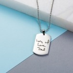 Inscripture - Mens Dog Tag Necklace
