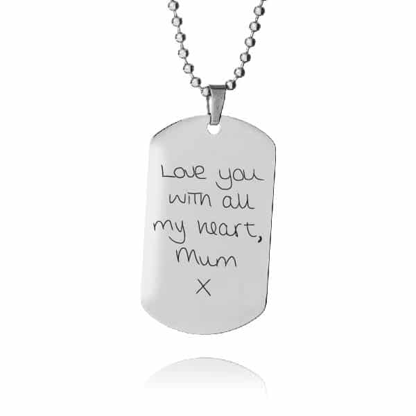 Inscripture-Mens Dog Tag Necklace