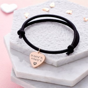 Rose Gold Personalised Bracelet - Inscripture - Personalised Jewellery