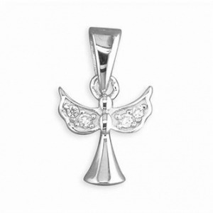 Diamonte Angel Charm - Inscripture - Personalised Jewellery
