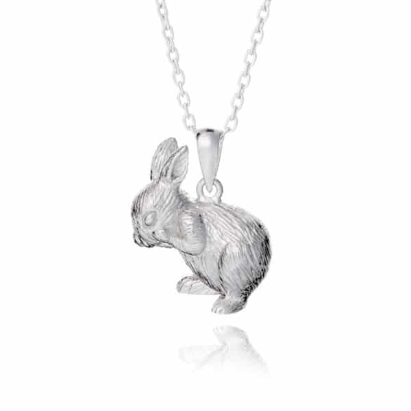 Inscripture - Sterling Silver Bunny Necklace