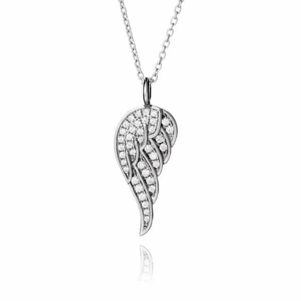 Inscripture - Angel Wing Necklace CZ