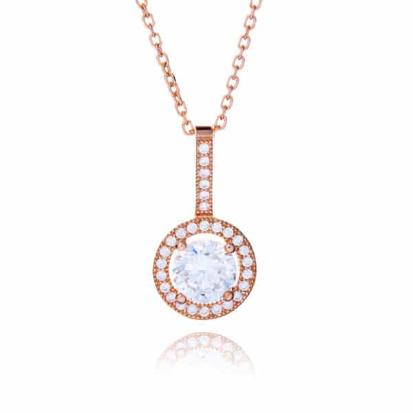 Inscripture - Rose Gold Halo Necklace