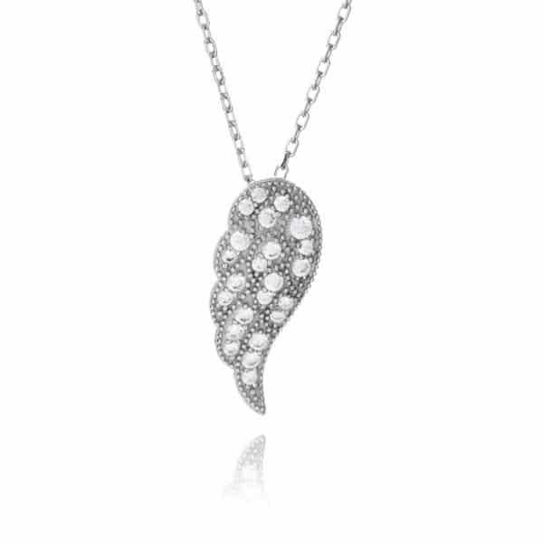 Inscripture - Diamante Angel Wing Necklace