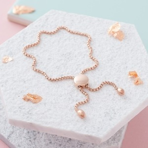 Rose Gold Initial Bracelet - Inscripture - Personalised Jewellery