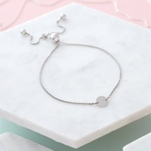 Personalised Circle Slider Bracelet - Inscripture - Personalised Jewellery