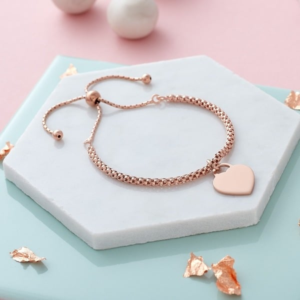 Inscripture - Rose Gold Popcorn Bracelet