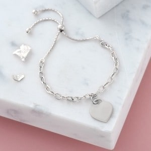 Personalised Silver Chain Slider Bracelet - Inscripture - Personalised Jewellery