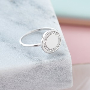 Personalised Initial Halo Ring