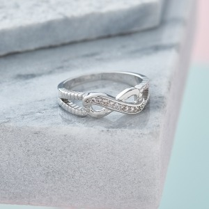 Sterling Silver Infinity Ring - Inscripture - Personalised Jewellery