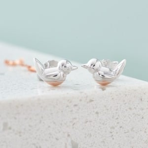 Robin Stud Earrings - Inscripture - Personalised Jewellery