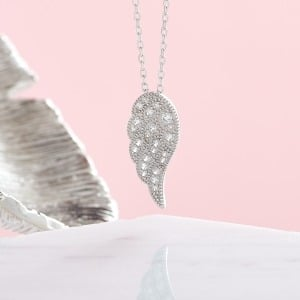 Sterling Silver Angel Wing Necklace