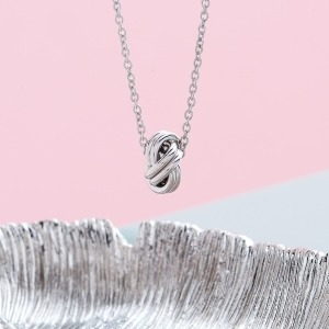 Sterling Silver Knot Necklace - Inscripture - Personalised Jewellery