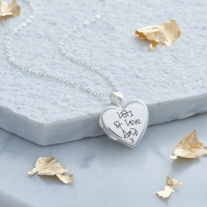 Handwriting Sterling Silver Locket