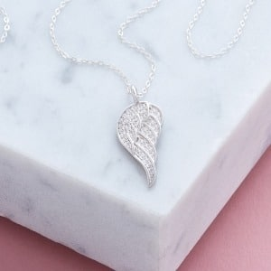 Cubic Zirconia Angel Wing Necklace