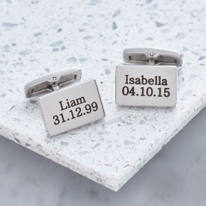Personalised Cufflinks - Inscripture - Men's Jewellery