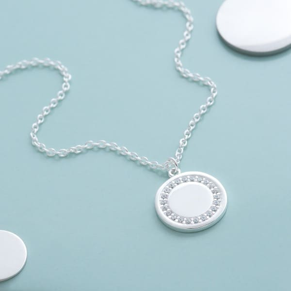 Inscripture - Initial Halo Necklace
