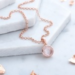 Inscripture - Rose Quartz Necklace