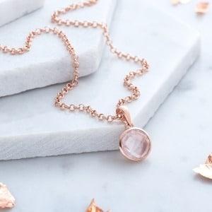 Rose Gold Quartz Necklace