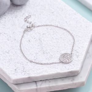 Cubic Zirconia Pendant Bracelet - Inscripture - Personalised Jewellery