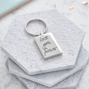 Actual Handwriting Keyring