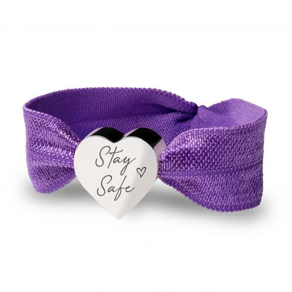 Inscripture -Purple Stretch Bracelet