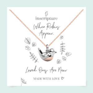 rose gold robin necklace - Inscripture - Personalised Jewellery