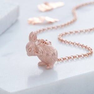 Rose Gold Bunny Necklace