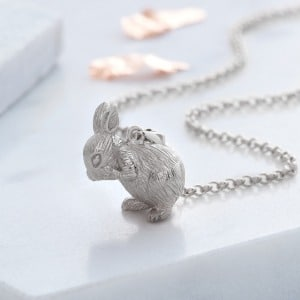 Sterling Silver Bunny Necklace
