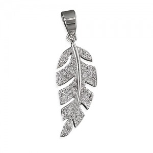 Sterling Silver Feather Charm - Inscripture - Personalised Jewellery