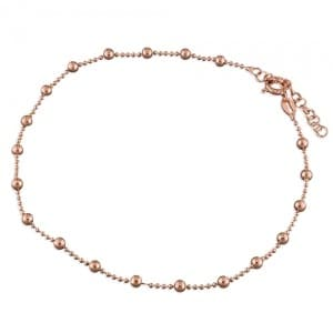 Rose Gold Bead Anklet - Inscripture - Personalised Jewellery