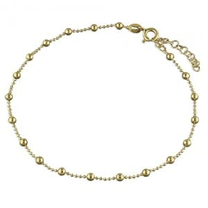 Gold Bead Anklet - Inscripture - Personalised Jewellery