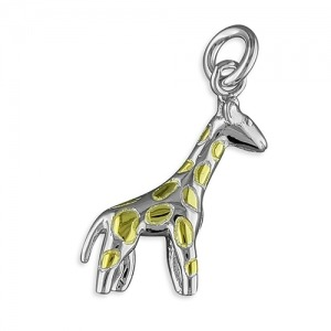 Silver Giraffe Charm - Inscripture - Personalised Jewellery
