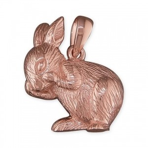 Rose Gold Bunny Charm - Inscripture - Personalised Jewellery