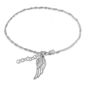 Angel Wing Anklet - Inscripture - Personalised Jewellery