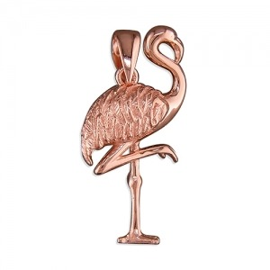Rose Gold Flamingo Charm - Inscripture - Personalised Jewellery
