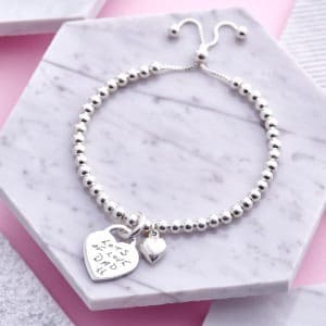 Sterling Silver Handwriting Bracelet