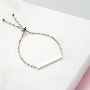 Handwriting Silver Slider Bracelet