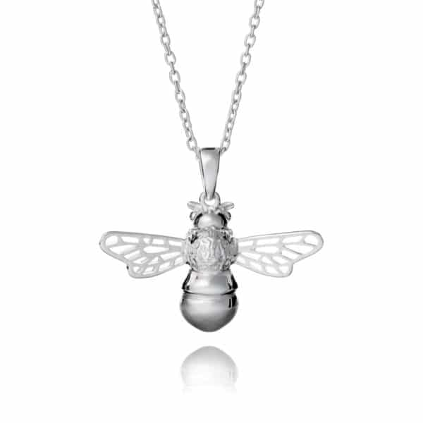 Inscripture - Silver Bee Necklace
