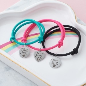 Mummy, Daddy & Me Personalised Bracelets - Inscripture - Personalised Jewellery