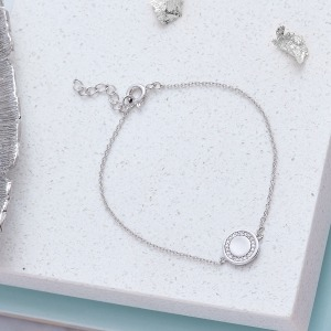 Personalised Cubic Zirconia Sterling Silver Bracelet - Inscripture - Personalised Jewellery