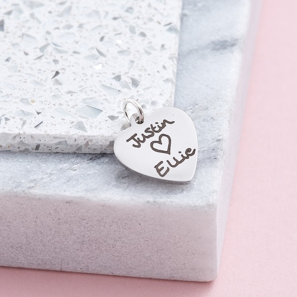 Inscripture Heart Charm