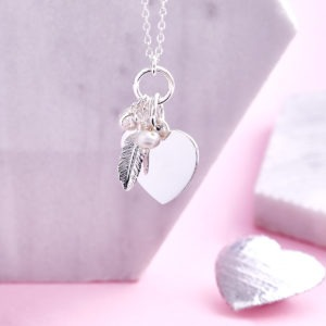 Handwriting Feather Necklace