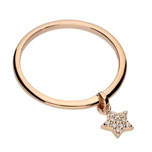 Inscripture - Rose Gold Star Ring