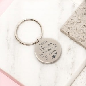 Love you personalised keyring