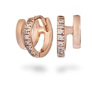 rose gold huggie earrings - inscripture - personalised jewellery