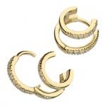 Inscripture - Gold Huggie Earrings