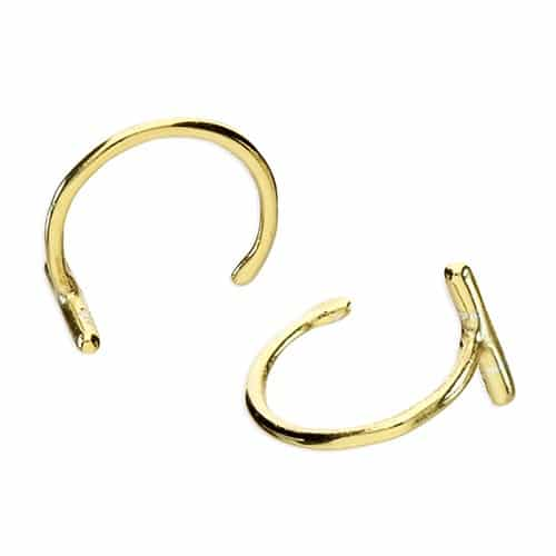 Inscripture - Gold Bar Loop Earrings