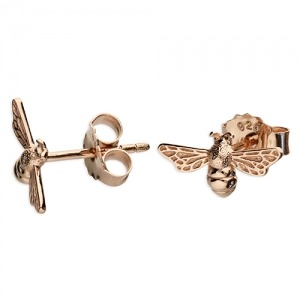 Rose Gold Bee Earrings - Inscripture - Personalised Jewellery