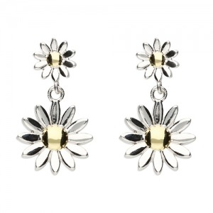 Daisy Drop Earrings - Inscripture - Personalised Jewellery